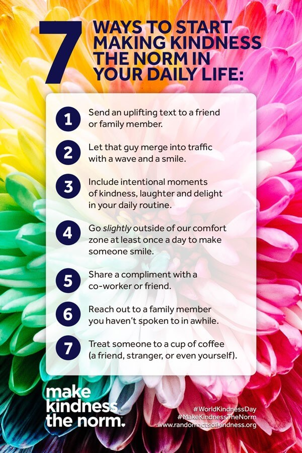 7 way to spread kindness