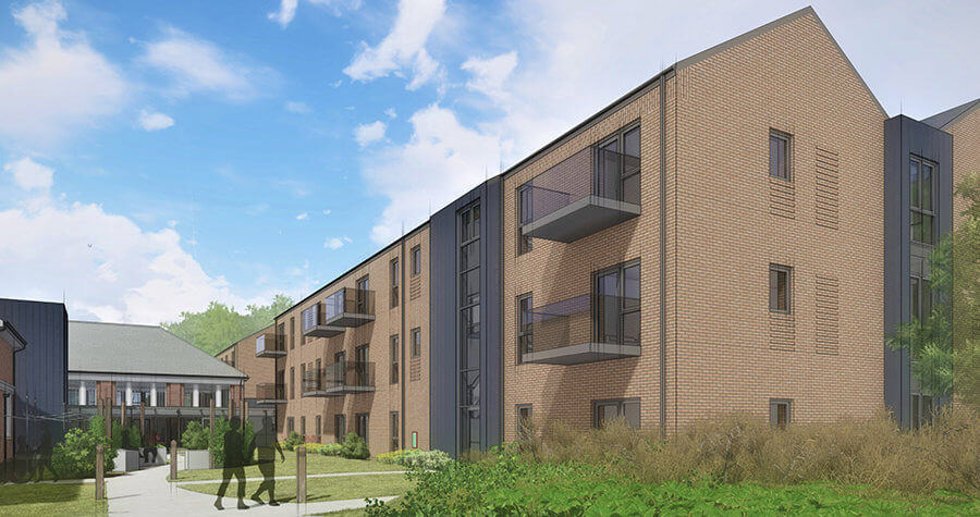 Computer generated image of new development in Welshpool